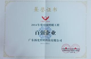 2014年度中国优德88官方网站登录工程百强企业