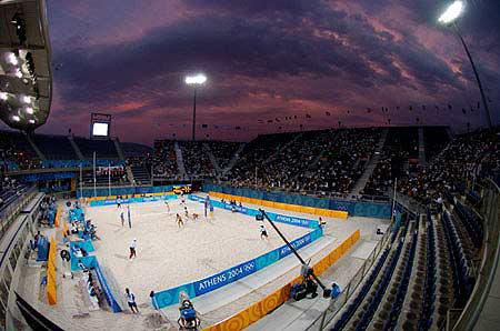 沙滩排球场优德88官方网站登录设计